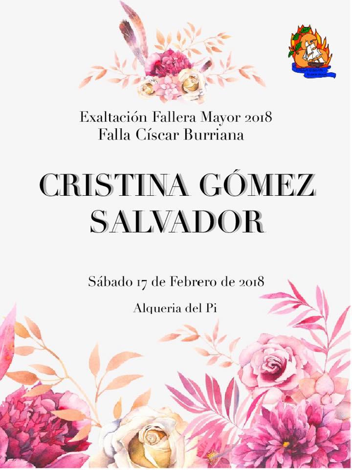 EXALTACIÓN FALLERA MAYOR 2018