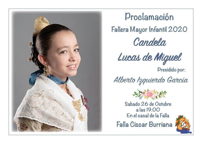 PROCLAMACIÓN FALLERA MAYOR INFANTIL 2020